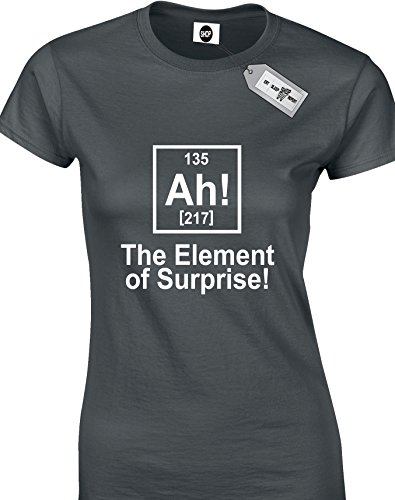 The Element Of Surprise!-Maglietta a maniche corte A Woman's T-shirts. consegna gratuita inclusi. Nero  grigio