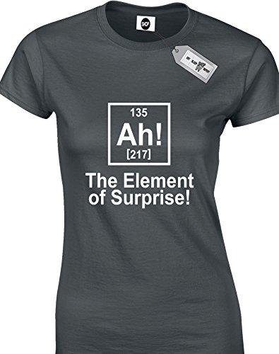 The Element Of Surprise!-Maglietta a maniche corte A Woman's T-shirts. consegna gratuita inclusi. Nero  grigio