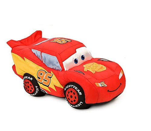 Disney Lightning Mcqueen Plush Toy 14 on figure 8 race cars
