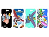 Wholesales 4pcs Dumbo Cartoon Fashion Hard back cover skin case for samsung galaxy note n7100-n7du4002