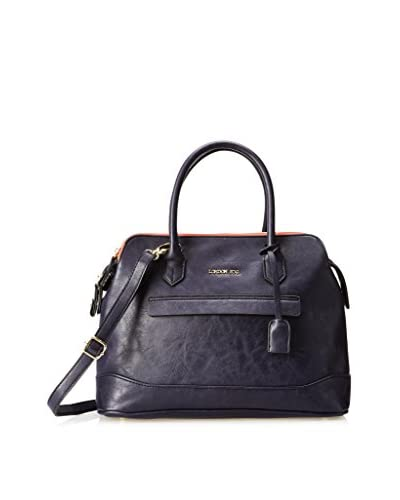 London Fog Women's Preston Satchel, Sapphire