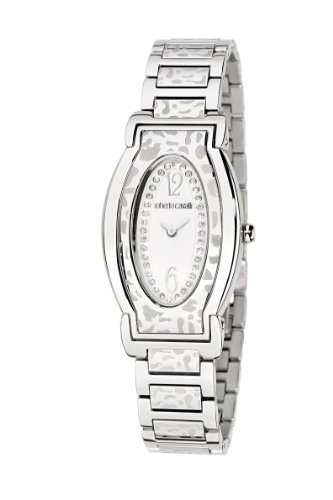 Roberto Cavalli Ladies Diana Analogue Watch R7253118715 with Quartz Movement, Stainless Steel Bracelet and Silver Dial