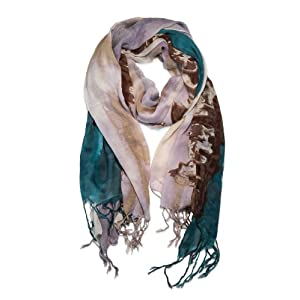 Garcia Artwear Dawn at The Ritz Jerry Garcia Scarf Teal