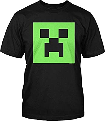 Minecraft Creeper Glow in the Dark Youth T-Shirt, Black