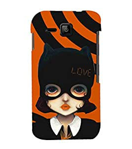 printtech Cute Girl Love Mask Back Case Cover for Micromax Bolt S301