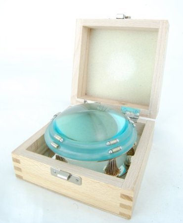 "APT-MG640 Retro-Classic, 4"" - Footed Dome Magnifier 4x w/Wooden Gift Box"