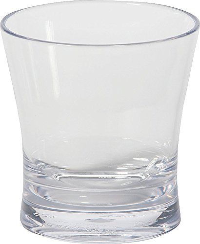 Carlisle 560907 Alibi Heavy-Weight Plastic Rocks / Juice Glass, 9 oz (Set of 24)