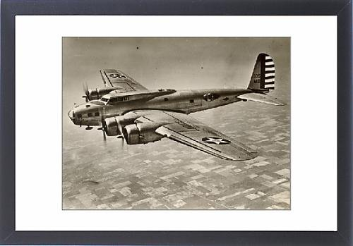 Framed Artwork of Boeing B-17C Flying Fortress in flight