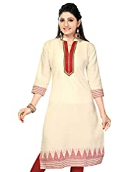 Karan Kurtis Cotton Jute Khadi Long Cotton Kurtis