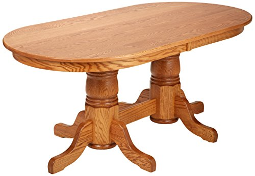 dooley 39 s en7236dbd 3 solid oak double pedestal oval dining