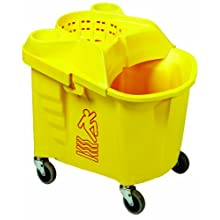 "Continental 335-39YW, Institutional Wringer Combo Pack with Casters, 35 quart Capacity, 21-1/2"" Length x 18-3/8"" Width x 20-1/2"" Height, Yellow (Case of 1)"