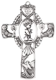 Genuine Pewter Wall Cross for Baby Boy \