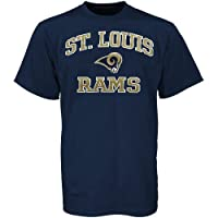 NFL St. Louis Rams Heart and Soul T-Shirt - Navy Blue by Nutmeg