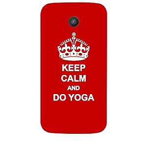 Skin4gadgets Keep Calm and DO YOGA - Colour - Red Phone Skin for MOTOROLA MOTO G 1ST G