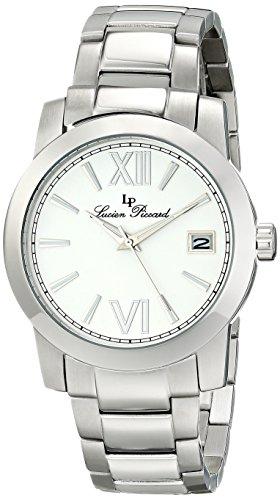 Lucien Piccard LP-10026-22 - Reloj para mujeres, correa de acero inoxidable color plateado
