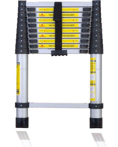 12 Foot Telescoping Ladder : New ′ foot aluminum telescoping ladder home