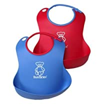 Baby Bjorn® Soft Bib Set 2 Pack Red/Blue