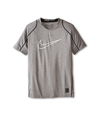 Nike Youth Pro Cool HBR Fitted T-Shirt (Medium, Grey)