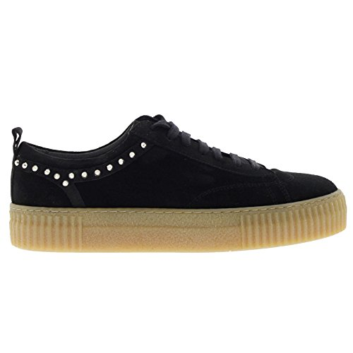Bronx Womens 65632-A Platform Black Suede Shoes 37 EU