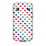 Ecell - HEAD CASE PINK & PURPLE MULTI-COLOURED HEARTS CASE FOR SAMSUNG GALAXY GIO S5660