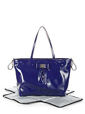 Kate Spade Veranda Place Patent Blossom French Navy Bag Pxru4870-452 front-137350