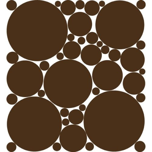 Chocolate Brown Polka Dot Peel & Stick Wall Stickers