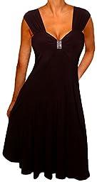 Funfash Plus Size Dress Black Dress Empire Waist Women\'s Cocktail Dress Xl 1x 16