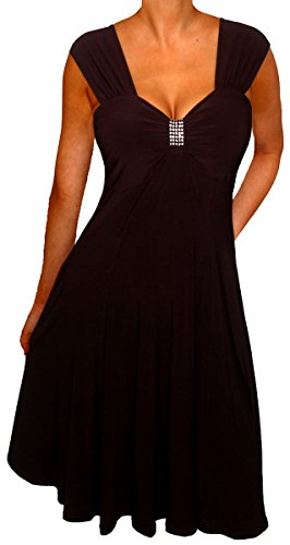 Funfash Plus Size Dress Black Dress Empire Waist Women's Cocktail Dress Xl 1x 16
