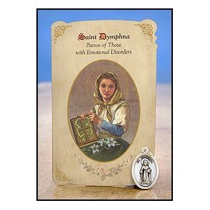 Amazon.com : Saint Dymphna Healing Holy Card with Medal