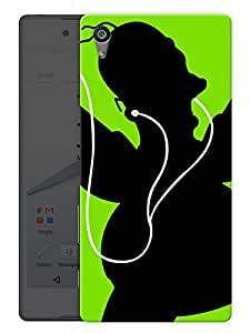 """Humor Gang Shadow With Headphones - Music Printed Designer Mobile Back Cover For """"Sony Xperia Z5"""" (3D, Matte, Premium Quality Snap On Case)"""