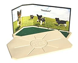 Piddle Place Delux Base Unit Porous Turf Indoor Dog Toilet with Cover