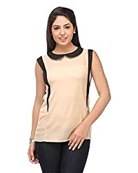 Cappadocia Women's Regular Fit Top (Cap00004 Beige_M, Beige, Medium)