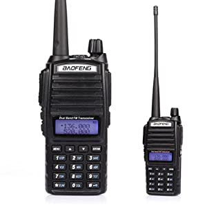 BaoFeng *UV82L* Dual Band UHF/VHF 137174/400520MHz Amateurfunk Handfunkgerät Two Way Ham FM Walkie Radio, 3000mA 2013 Neu Edition! *Schwarz* (USB ProgrammierKabel und Remote Speaker Mikrophon enthaltend)    Kundenbewertung und weitere Informationen