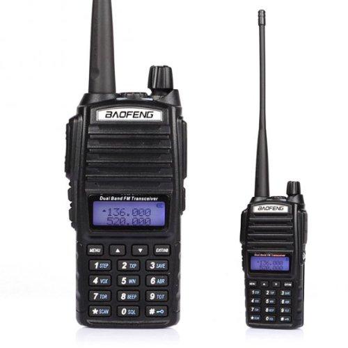 5 Pack 2014 Baofeng UV-82L VHF/UHF Ham radio Bidirectionnelle de Talkie-Walkie avec 18cm Atenna & 3000mA Batterie, Noir + 1 * Câble de Programmation