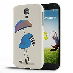 Koveru Designer Protective Back Shell Case Cover for Samsung Galaxy S4 - Zebra beak bird with umbrella