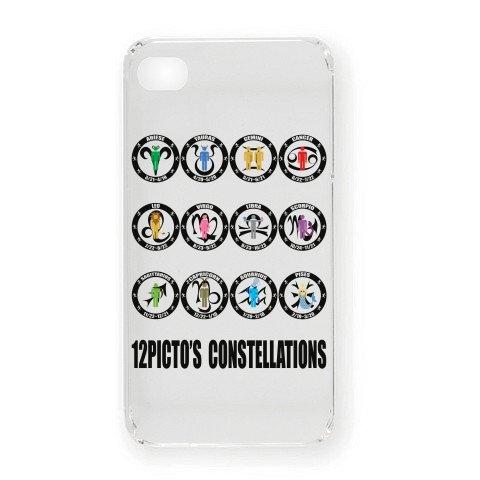 12ピクト星座(ブラック) iPhone4オリジナルケース(クリア)