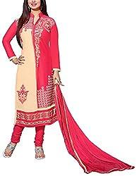 Shyam Fab Women's Cotton Dress Material (Pink)