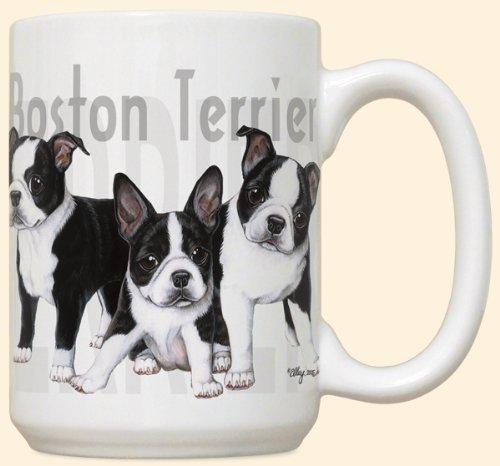 Boston Terrier Puppy Puppies Large 15oz Ceramic Mug (Ca Mug compare prices)