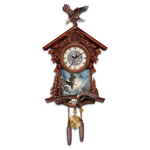 Eagle Cuckoo Clock: Al Agnew Guardians Of Time by The Bradford Exchange