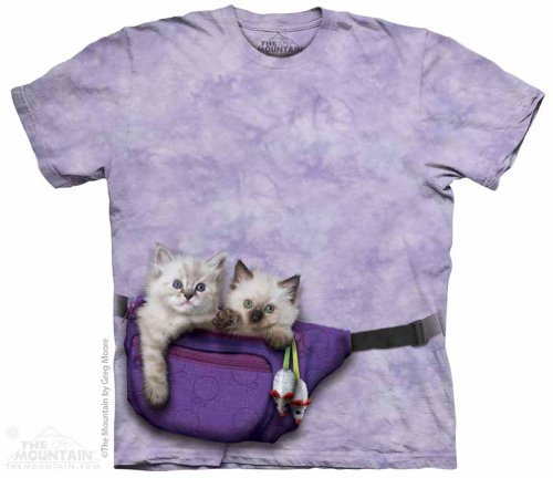 Fanny Pack Kittens The Mountain Tee Shirt Child S-Xl Adult S-5Xl 2013 Aqdult/Child: 1Xlarge front-1001378