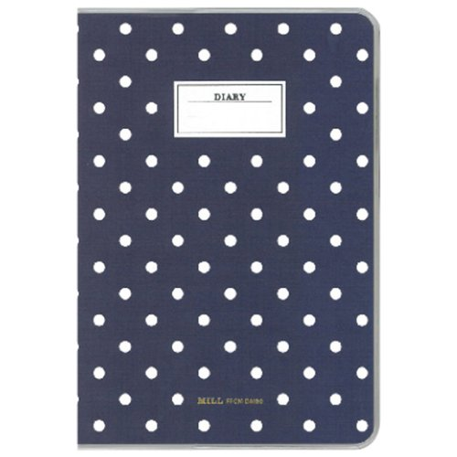 Diego 2014-2015 diary MILL A6 Monthly Dot Navy started the 3/2014 monthly size: 108 x 154 x 5 mm E9402