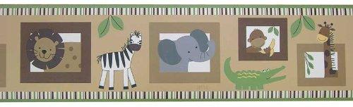 Bedtime Originals Baby Zoo Wallpaper Border - Chocolate