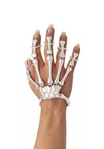 Skeleton Bone Hand Bracelet - One Size
