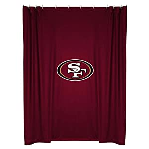 NFL San Francisco 49ers Shower Curtain by Sports Coverage