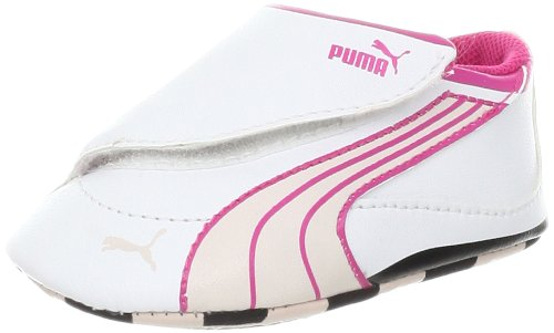 PUMA Drift Cat 4 Lw Crib Fashion Sneaker (Infant/Toddler/Little Kid/Big Kid),White/Peach Blush/Cabaret,5 M US Toddler