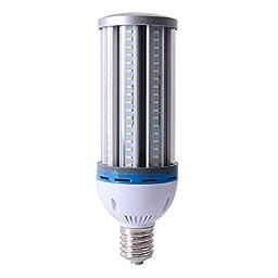 LVJING® Super Bright 65W Led Corn Light Bulb, E40 Base, 162pcs 5730 SMD Chip, Soft Warm White Light, 2800~3200K, 6000lm, 360 degree lighting, AC 85~265V, Equivalent to 200W Conventional CFL Lamp