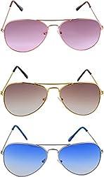 Shoaga Men's Aviator Sunglasses (Pink)
