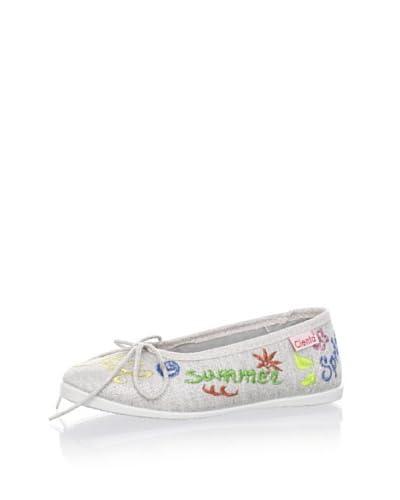 Cienta Kid's Ballet Sneaker  [Silver]