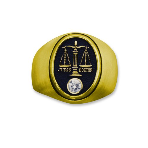 Lawyer Attorney 14k Professional Ring with Diamond