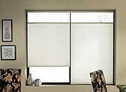 Top Down Bottom Up Shades, Cordless Cellular Window Blinds, White (23Wx48L)